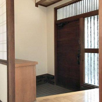 玄関もこのゆとり。