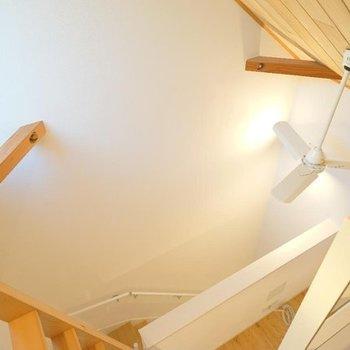 【ロフト】登ってくるときちょっと怖いかも?※写真は同間取り別部屋のものです。