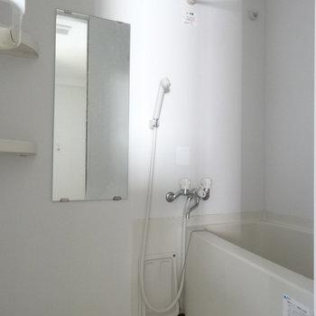 バスルームはこちら ※写真は3階の同間取り別部屋のものです。