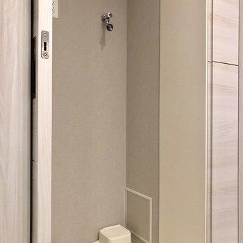 洗濯機はここに。※写真は1階同間取り別部屋のものです