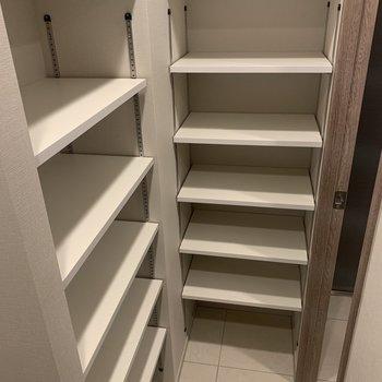 何かと増えがちなくつですが、結構な容量があります。※写真は4階の同間取り別部屋のものです