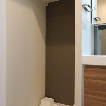 脱衣スペースに、洗濯機置き場がやっぱりすきです