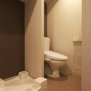 トイレは開放的な作りとなっております。