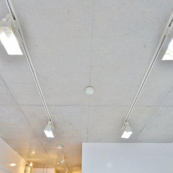 天井もスマートにきめてます。※写真は203号室のもの