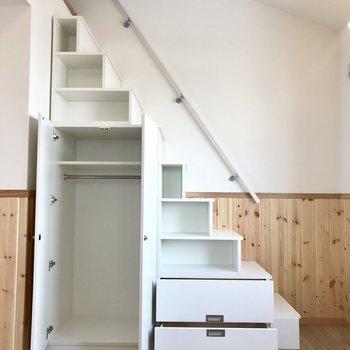 階段が収納に!!!