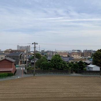 街並みを見渡せる景色。
