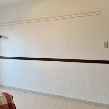 【洋室】お気に入りの洋服などかけたいですね〜※家具はサンプルになります