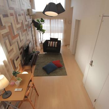 ロフトからの眺め ※家具はイメージです