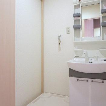 洗濯機置場は洗面台のお隣に※写真は前回募集時のものです