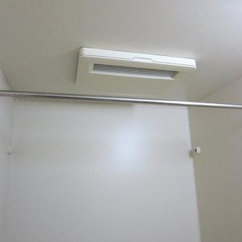 浴室乾燥機がついているので、洗濯物はここで干せます※写真は前回募集時のものです