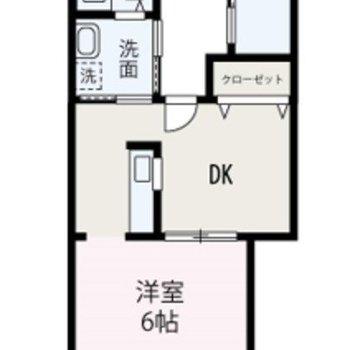 1DKのお部屋です