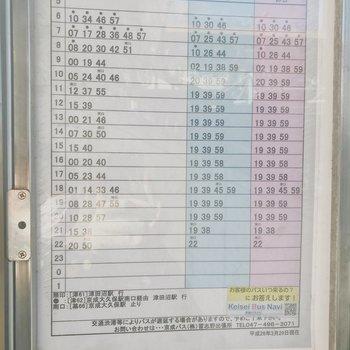 幕張本郷駅→お部屋のバス時刻表※2019年1月現在