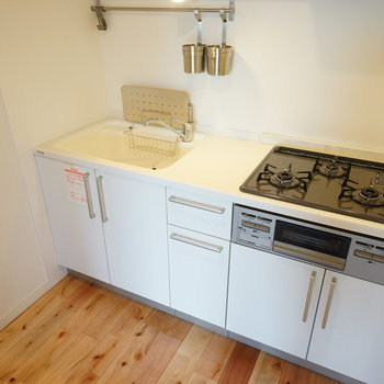 【イメージ】キッチンは3口ガス!