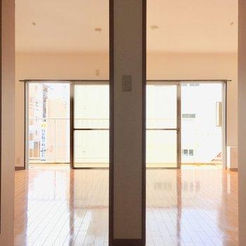 左右対称部屋。