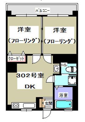 左右対称部屋。 の間取り