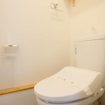 トイレはウォシュレット付き!※写真は同間取りの別部屋のものです