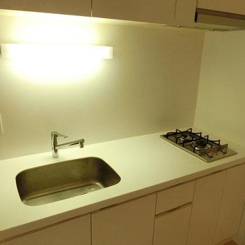 つかいやすいキッチン ※写真は4階の同間取り別部屋のものです。