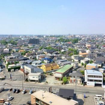 まず見てほしいこの景色。お部屋から久留米の町を一望!