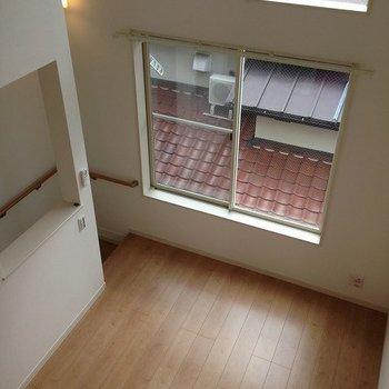 ロフトからの眺め※写真は2階の同間取り別部屋のものです。
