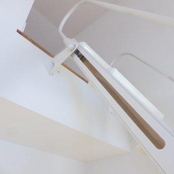 ロフトへのはしごは固定されているから安心。動かしやすかったですよ◎