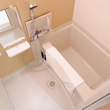 浴室は1人暮らしに十分なサイズ。※家具は見本です