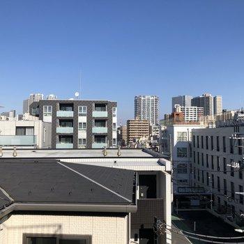 4階からの眺望。
