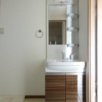 洗面台の柄もキッチンと統一されています。(※写真と文章は前回募集時のものです)