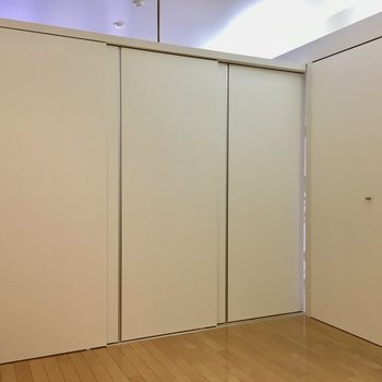 ドアを閉めるとこんな感じ。※退去前につき、写真は前回募集時のもの
