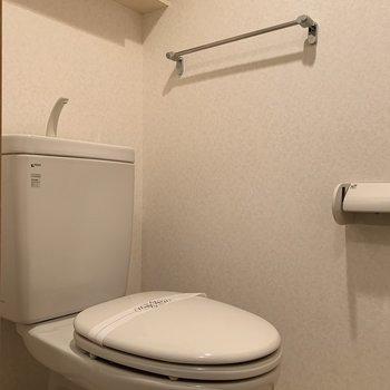 トイレ上にも収納できますね