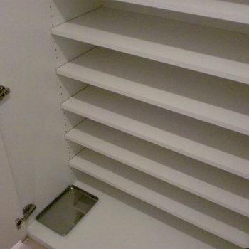 シューズクローゼット※写真は1階の同間取り別部屋のものです。