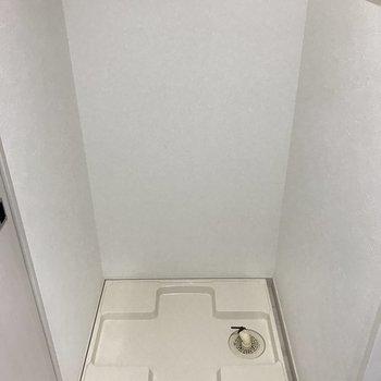 洗濯パンもしっかりと。(※写真は6階の同間取り別部屋のものです)