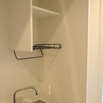 洗った食器はさっと干せますよ!※写真は1階の同間取り別部屋のものです