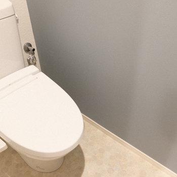 トイレはウォシュレット付き!(※写真は工事中のものです。)