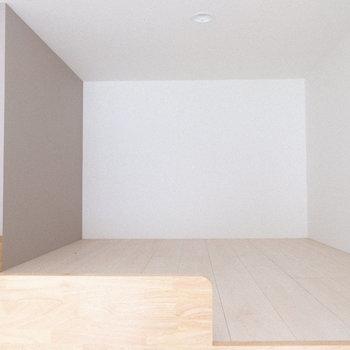 結構広々としたロフトになっています。(※写真は1階の同間取り別部屋、工事中のものです。)