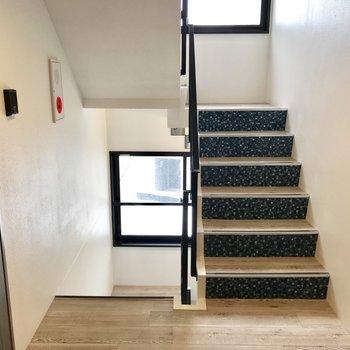 階段を登って・・・