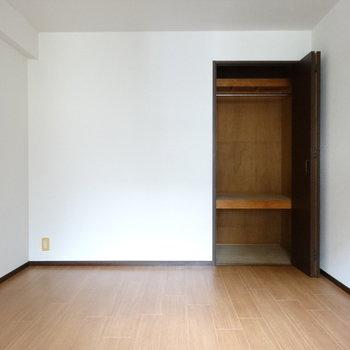 こちらの収納は服も掛けられる♬この部屋は寝室にいいかも!(※写真はモデルルームです)