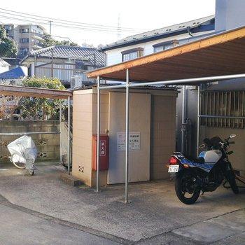駐輪場、バイク置き場もあります!