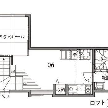 凝ったデザインのワンルームです。