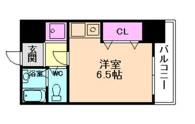 ODESSA南船場の間取り図