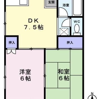 和室のあるお部屋 ※間取り図は反転しております