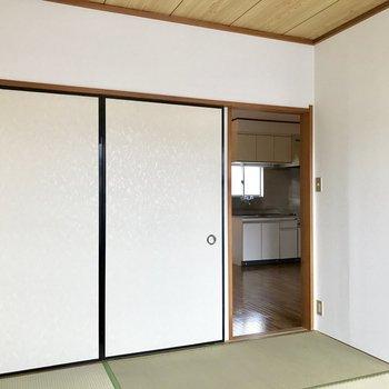 【和室】和室は洋室からもダイニングからも移動できます