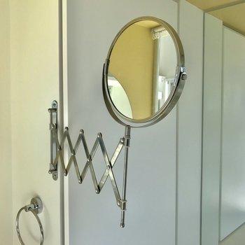 伸縮する鏡が家具選びのポイントなのでは?※写真は4階の同間取り別部屋のものです