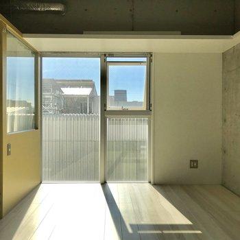 南向きの窓がペットにも人にも優しい※写真は4階の同間取り別部屋のものです