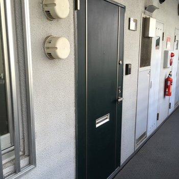 玄関ドアもきれいに