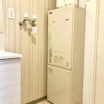 洗濯機のスペースもしっかりと※写真は別部屋です