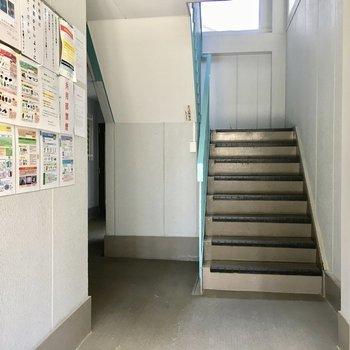 この階段を上っていきます!