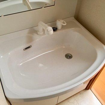 大きくて使いやすそうな洗面台です。※写真は3階の同間取り別部屋のものです