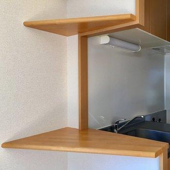 可愛くて便利なカウンター。※写真は3階の同間取り別部屋のものです