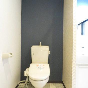 もちろん温水洗浄便座付きのトイレ