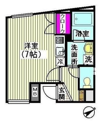 Fine Stage三軒茶屋の間取り